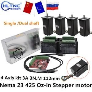 Image 1 - RUS Ship CNC Router 3 4 Axis kit   3A 3N.M Nema 23 425 Oz in Stepper motor TB6600 driver+350W power supply MACH3 Controller card