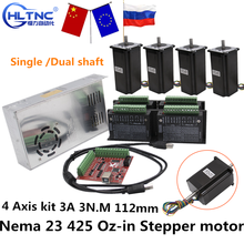 Rus Schip Cnc Router 3 4 Axis Kit 3A 3N.M Nema 23 425 Oz In Stappenmotor TB6600 Driver + 350W Voeding MACH3 Controller Card