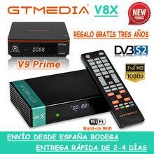 Venda quente gtmedia v8x DVB-S2 built-in wifi gtmedia v9 principal satélite receptor h.265 1080p decodificador de alta qualidade nenhum aplicativo
