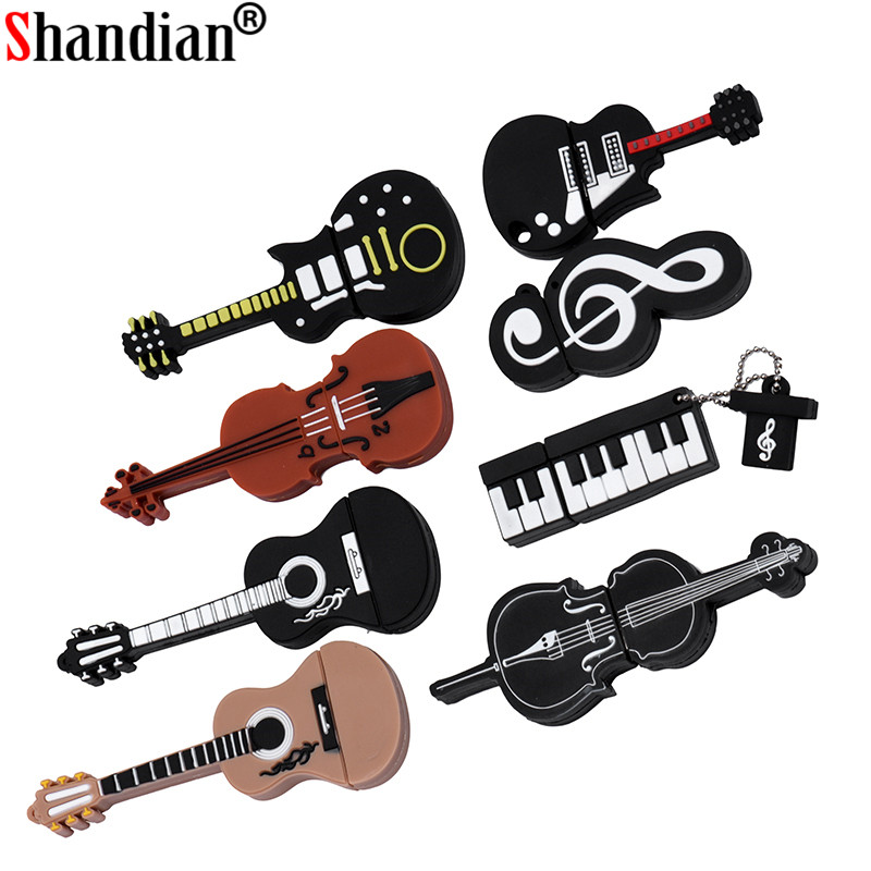 SHANDIAN HOT Usb Flash Drive Pen Drive 64GB 32gb 16gb 4gb New Musical Notation Model U Disk Pen Driver Flash Memory Usb Stick