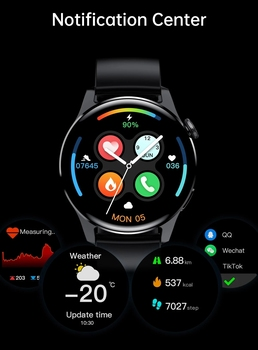 2021 New For HUAWEI Smart Watch Men Waterproof Sport Fitness Tracker Weather Display Bluetooth Call Smartwatch For Android IOS 4