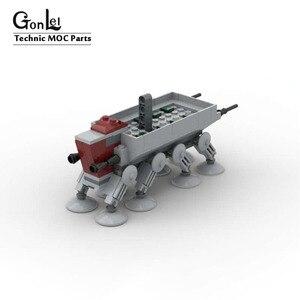 NEUE Star Plan MOD Republik Mit AT-OT Walker Raum Wars Gunship MOC- 10195 Mini Ver. Bausteine Ziegel Spielzeug Weihnachten Geschenk