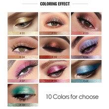 Liquid Glitter Eyeshadow Pigment Brown Blue Chocolate Shimmer Waterproof Black-Color