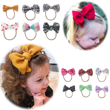 2020 New Baby Headband Ribbon DIY Toddler Infant Kids Hair Accessories Baby Girl Newborn Bows bowknot bandage Turban tiara diy girls grosgrain ribbon bow headband kids head bands headdress big bowknot ties headwrap hair accessories newborn baby turban