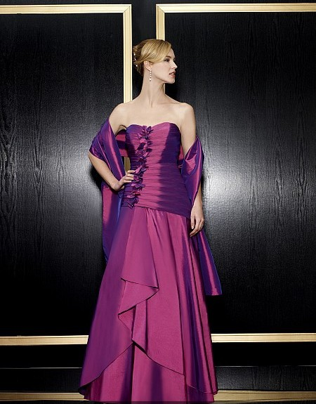 Maxi Formal 2018 New Vestidos De Festa Long Plus Size Purple Taffeta Party Evening Gown Elegant Mother Of The Bride Dresses