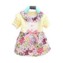 Spring Autumn Princess Baby Girls Dress New Fashion Full Girl Dress 0-2 Age Cotton Baby Girl Baby Clothing