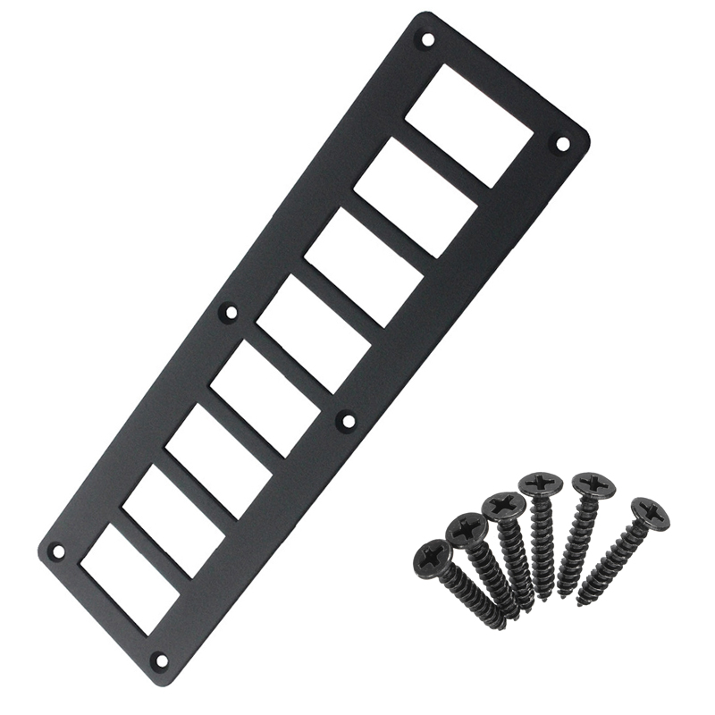 1pc 8 Gang ARB/Carling Aluminum Switch Dash Panel Frame Housing Plate Black Mount Holder Fixing