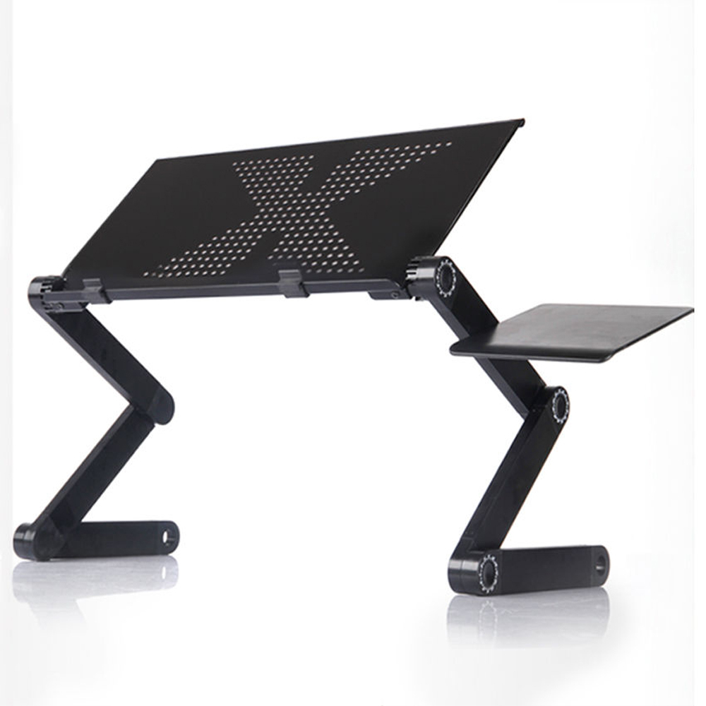 Portable Foldable Table For Laptop Desk Computer Notebook Stand Tray Home Office 360 Degree Adjustable Folding Table 48*26 Cm