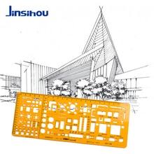 Jinsihou Plastic Drawing Template/Stencil Ruler K Resin Soft Architect/Construction/Geometry/Math/Furniture/Curve/Round Ruler