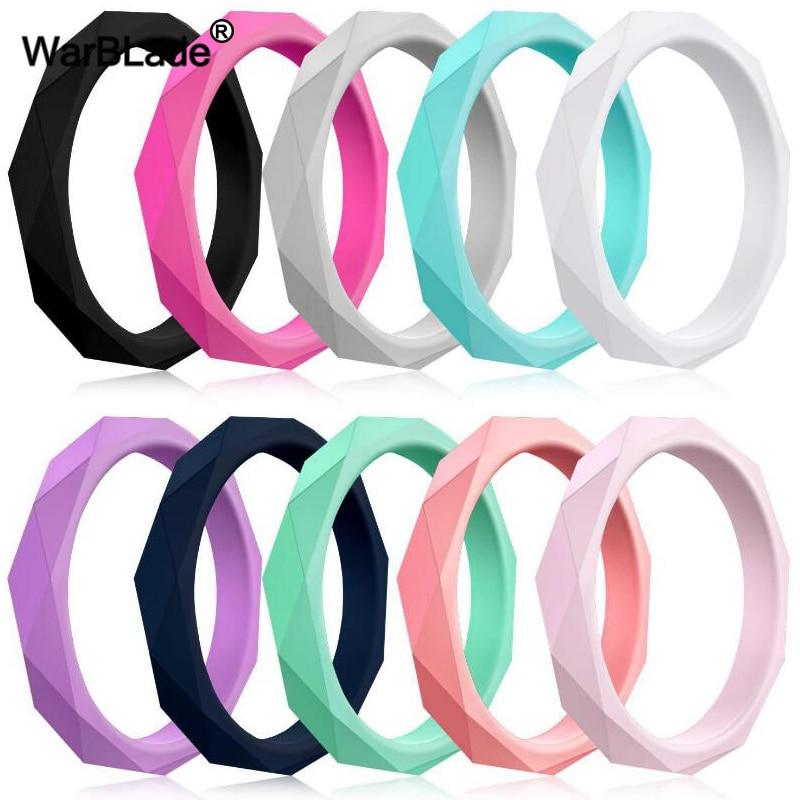 Женские силиконовые кольца WarBLade, эластичные гипоаллергенные кольца из пищевого силикона, 3 мм, FDA
