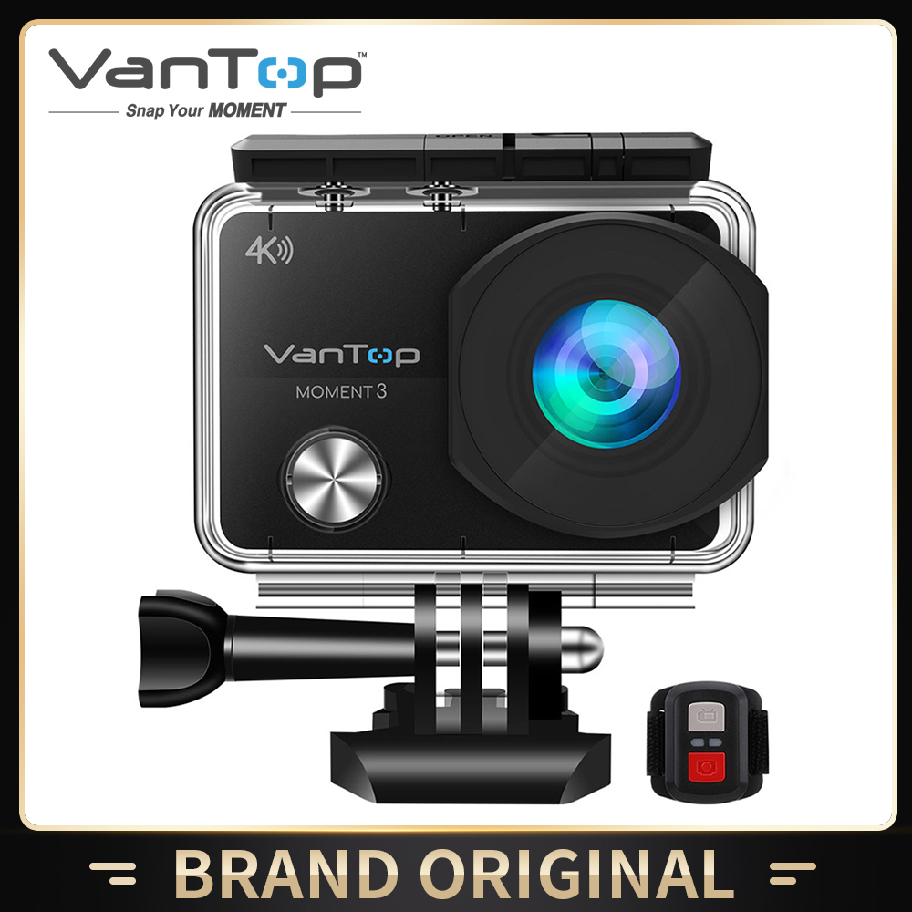 VanTop Moment 3 4K Action Camera Underwater Waterproof Camera  with 170° Wide Angle Outdoor Mini  WiFi Video Sports Mini Camera-0