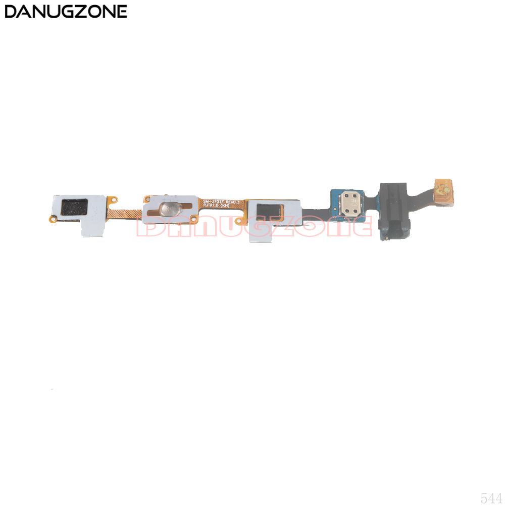 Home Button Return Key Sensor Earphone Audio Jack Flex Cable For Samsung Galaxy J7 Nxt J701F SM-J701F