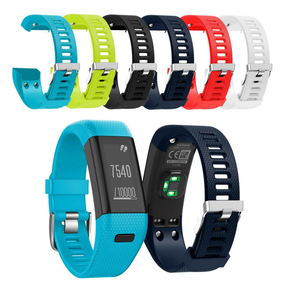 WatchBand Replacement Soft Silicone Sport Wristband For Garmin Vivosmart HR Band HR Bracelet Watch Strap