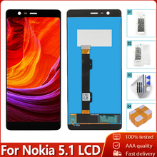 "5,5 ""Дисплей для Nokia 5,1 TA 1061 TA 1075 TA 1076 TA 1088 lcd сенсорный экран дигитайзер сборка Замена для Nokia 5,1 lcd"