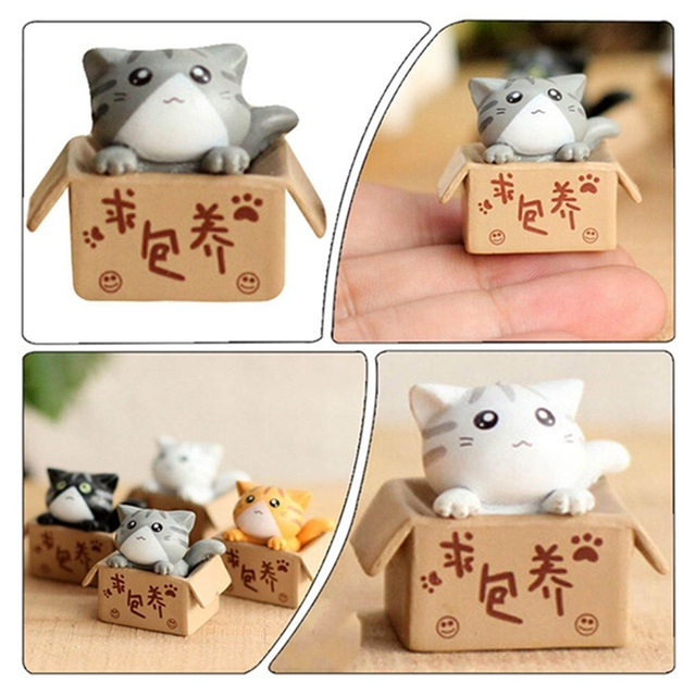 Cute Cat Mini Fairy Resin Decorative Crafts Home Decoration Terrarium Accessories For  House Figurines 6