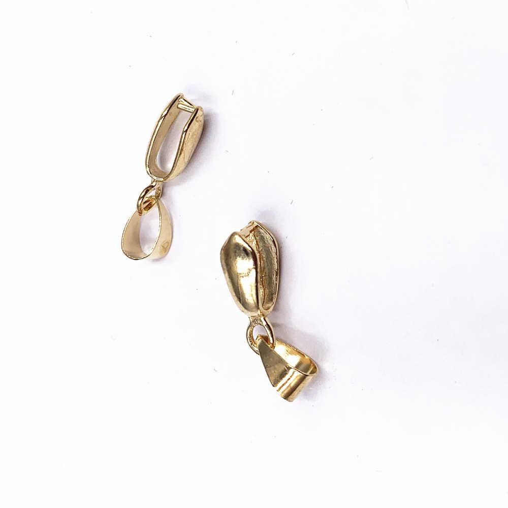 GHRQX Venta caliente 30 Uds. Colgantes de oro/plata de 12mm, broches colgantes, accesorios de piezas de joyería DIY