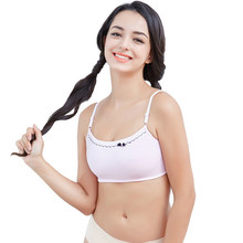 Free Delivery Teenage Girls Bra Cotton Thin Bra For Teenagers Teen Underwear Sportswear Topics For Girls 12 Years Old(China)