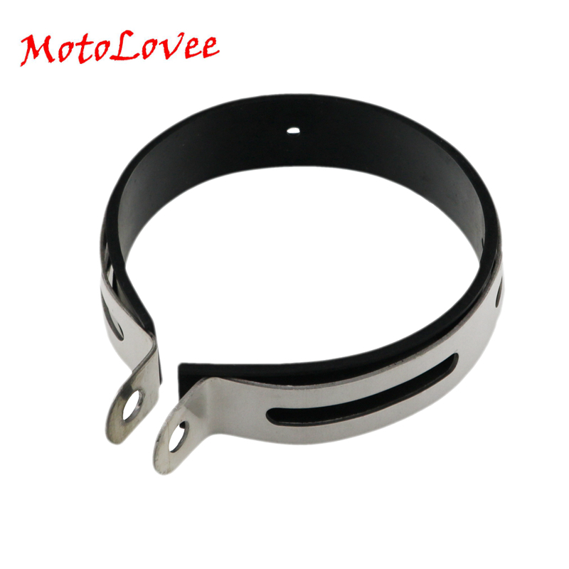 Motolovee Moto Carbon Fiber Holder Clamp Fixed Ring Support Bracket 100mm 110 115mm for Motorcycle Exhaust Pipe Muffler Escape|Exhaust & Exhaust Systems| |  - title=