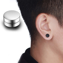 1 Pair Punk 6-12mm Magnetic Fake Ear Plugs Tunnel Black Blue Fake Ear Stretcher Earring Gauges Plug No Pierced Magnetic Earrings washable comfortable cylindrical pvc ear plugs set w cord yellow blue