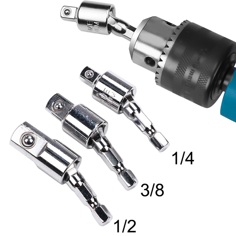 Electric Wrench Hexagonal Handle To Square Socket Change Over Tool Connecting Rod 40FP19