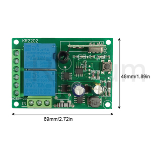 Image 4 - Rubrum 433 MHz AC 110V 220V 2CH RF Remote Control Switch Controller + Universal RF Relay Receiver For Light Garage Door Opener