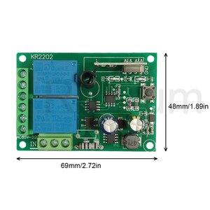 Image 4 - Пульт дистанционного управления Rubrum, Универсальный Радиочастотный релейный Приемник 433 МГц, AC 110 В 220 В, 2 канала, для открывания Гаражных дверей, светильник