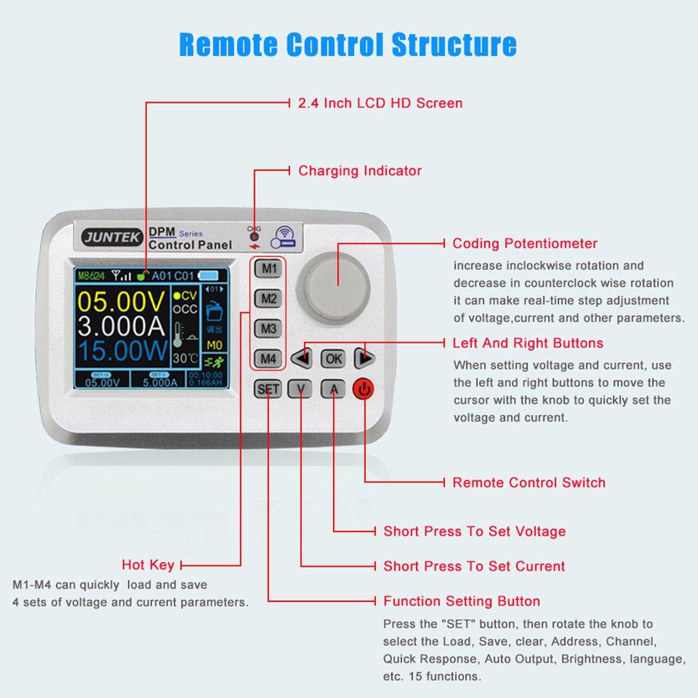 Durable 6-32V to 0-32V LCD 5A DC CV Buck Converter Step-down Power Supply Module