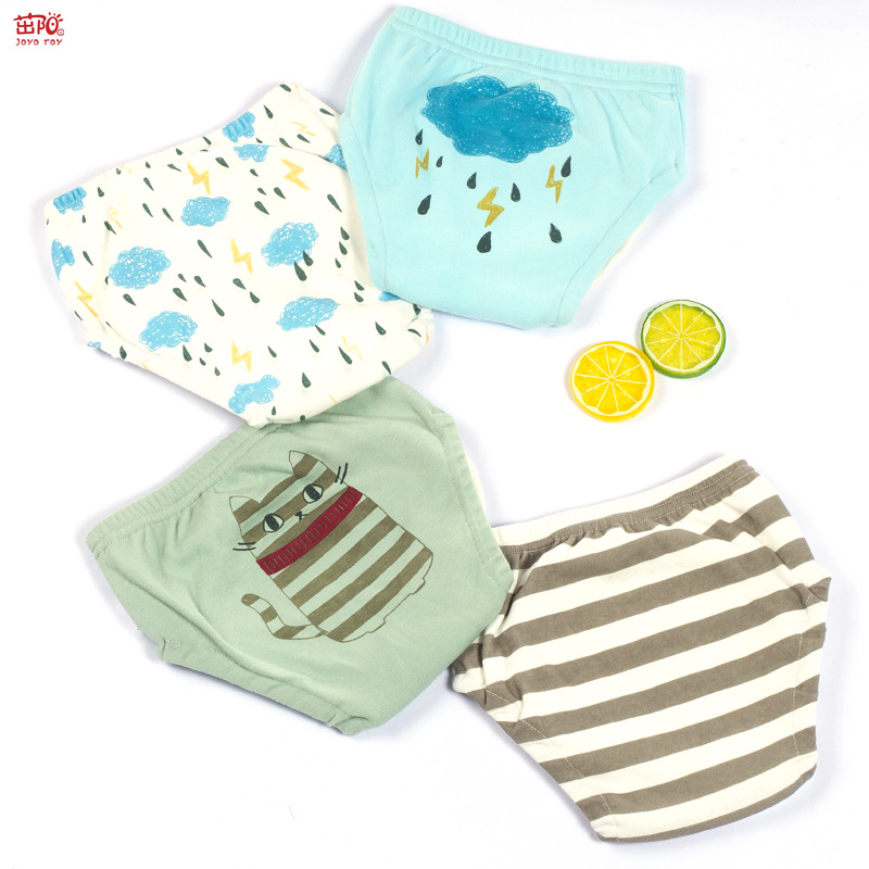 Various Styles Soft Suitable Fat Legs Boy Girl Baby Hanging Training Pants Pure Cotton Waterproof Washable Diapers 4psc/lot