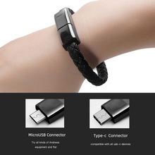 Portable Bracelet Data Cable 5V/2.4A Fast Micro USB Charging