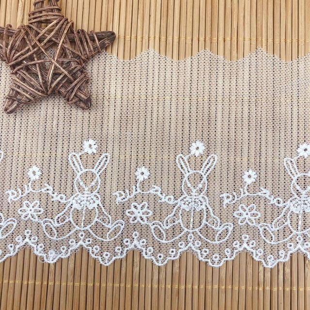 2yards 9.6cm nouveau Lolita Net fil broderie dentelle robe vintage jupe robe tissu dentelle accessoires