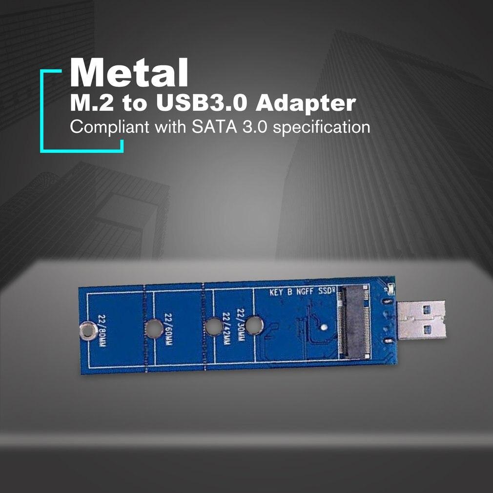 NGFF M.2 To USB3.0 Adapter B Key M.2 SSD Adapter USB 3.0 USB To 2280 M2 SSD Drive Adapter NGFF Converter Reader Card