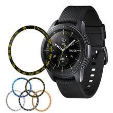 Metall Lünette Für Samsung Galaxy Uhr 46mm/42mm/Getriebe S3 Frontier/Klassische Abdeckung Sport Klebstoff fall Stoßstange Ring Uhr Zubehör