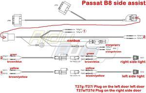 Image 3 - עבור פאסאט B8 8.5 PA מתיחת פנים MQB שינוי נתיב צד לסייע מערכת סט עדכון ערכת 3Q0 907 566 G 3Q0 907 590 G