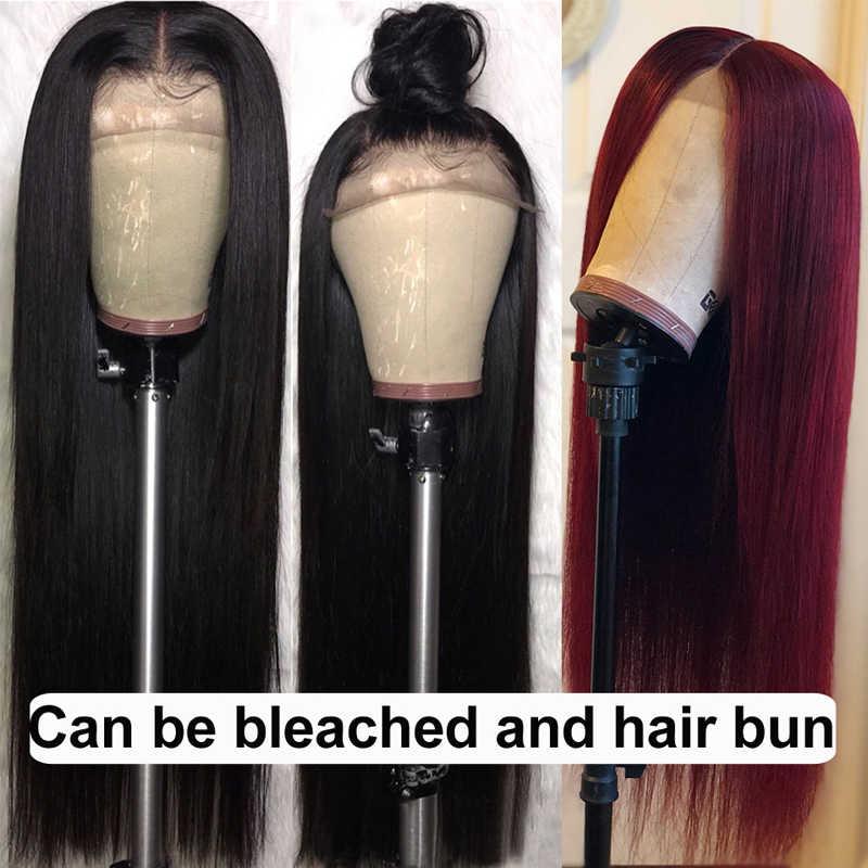 Peluca con cierre, pelucas de cabello humano con cierre de encaje, pelucas de cabello humano 4 × 4, peluca con cierre de encaje para mujeres, peluca de cabello brasileño liso no Remy
