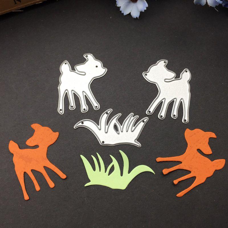 Deer Snowflake Metal Dies Cutting Stencil Scrapbooking Album DIY Stamp Paper