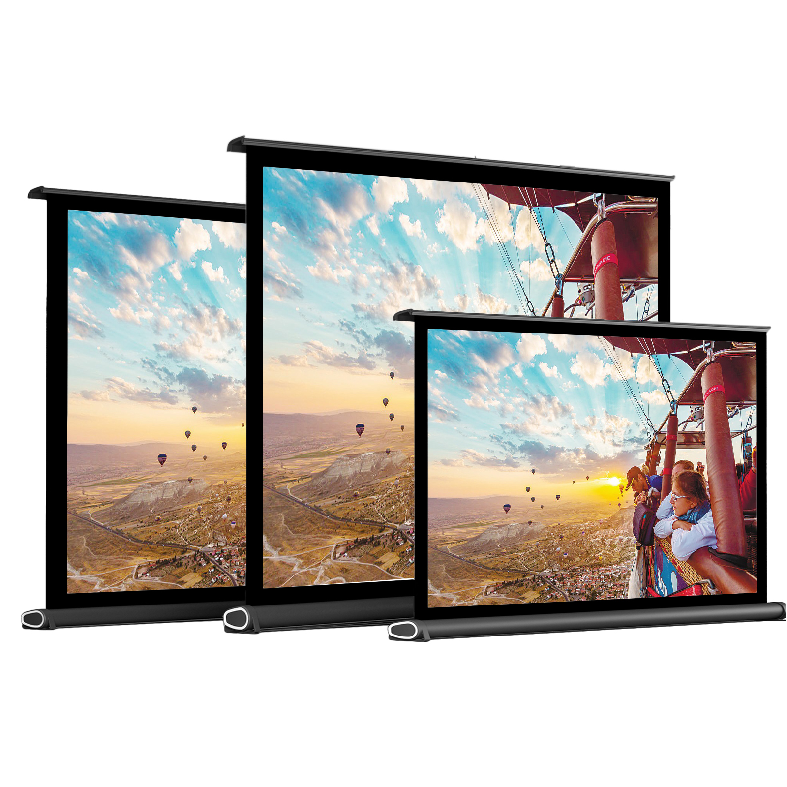 Projector-Screen Portable 50inch Theater Home for 40in 16:9