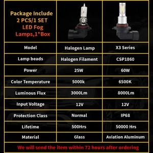 Image 2 - SHAYING X3 Series 2 Pcs Super Bright H16(jp) H8/9/11 H7 9005 HB3 9006 HB4 6500K LED Car Fog  Lights Lamp 6500k 12V Waterproof