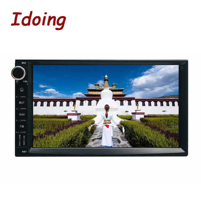 Idoing 4 Gb + 32G Stuurwiel Universele 2Din Android 9.0 Auto Radio Multimedia Player Gps Ingebouwde in Glonass 1024*600 PX5 TDA7850