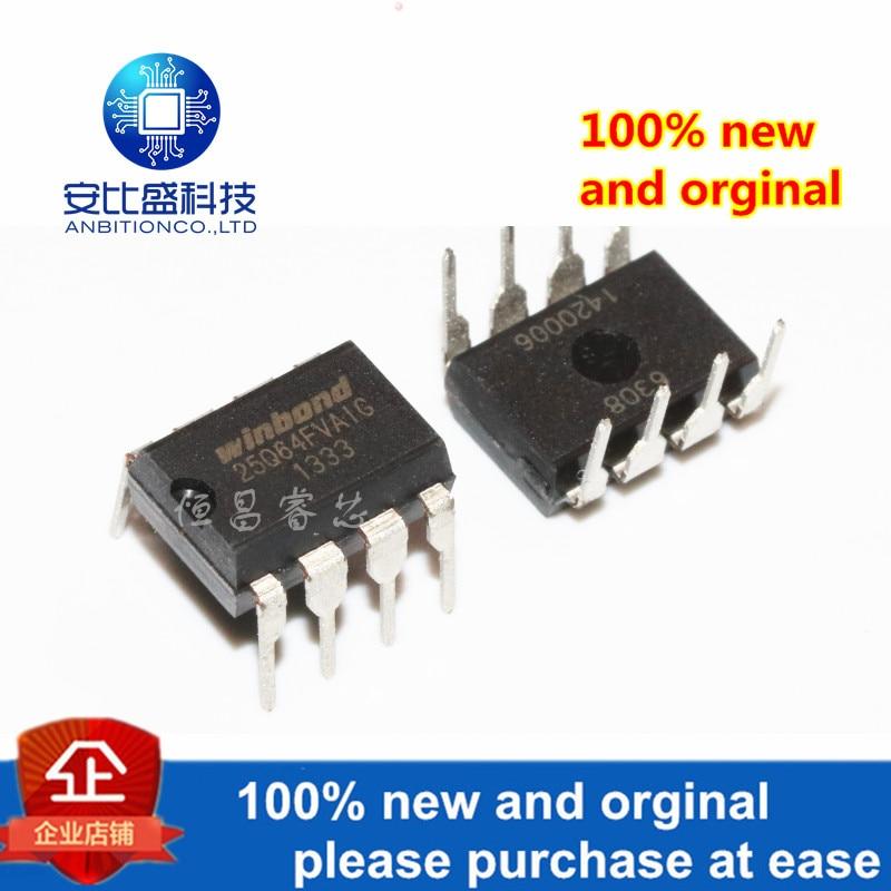 2pcs 100% New And Orginal W25Q64FVAIG Silk-screen 25Q64FVAIG 25Q64 64Mbits DIP8ic In Stock