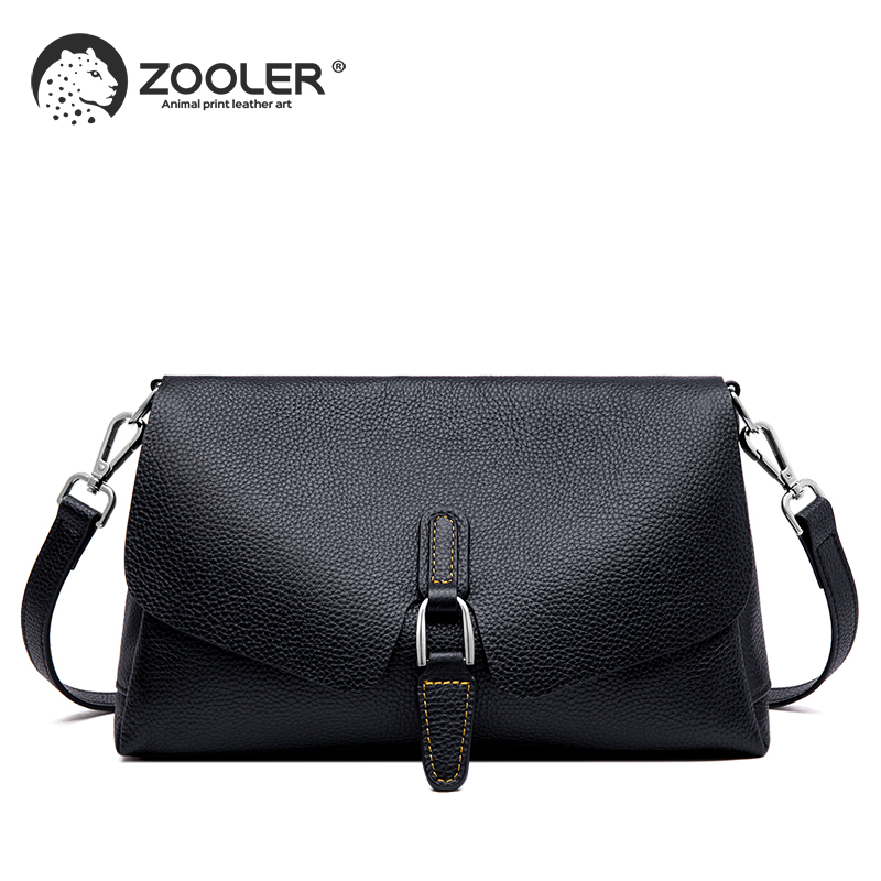 ZOOLER genuine leather shoulder bags women patchwork messenger bag crossbody fashion leather handbag purse bolsa feminina