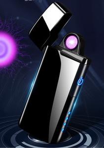 Image 4 - 플라스마 USB 라이터 터치 센서 스위치 라이터 담배 담배 Ciga 전자 라이터 조각 이름 슈퍼 얇은 Lightr