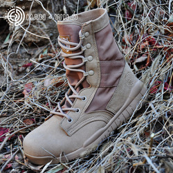 Culvert Wild CQB Ultra-Light Combat Boots Desert Continent Lightweight Combat Boots Shock Absorption Hight-top Outdoor Tactical