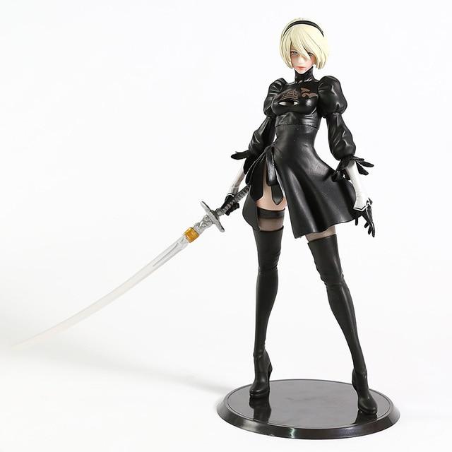 NieR Automata YoRHa No.2 Type B 2B PVC Figure Collectible Model Toy