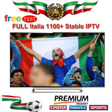FULL HD Italy IPTV Subscription 1100+ Live 10000+VOD Italian iptv with Germany France spani iptv for android smart tv(China)