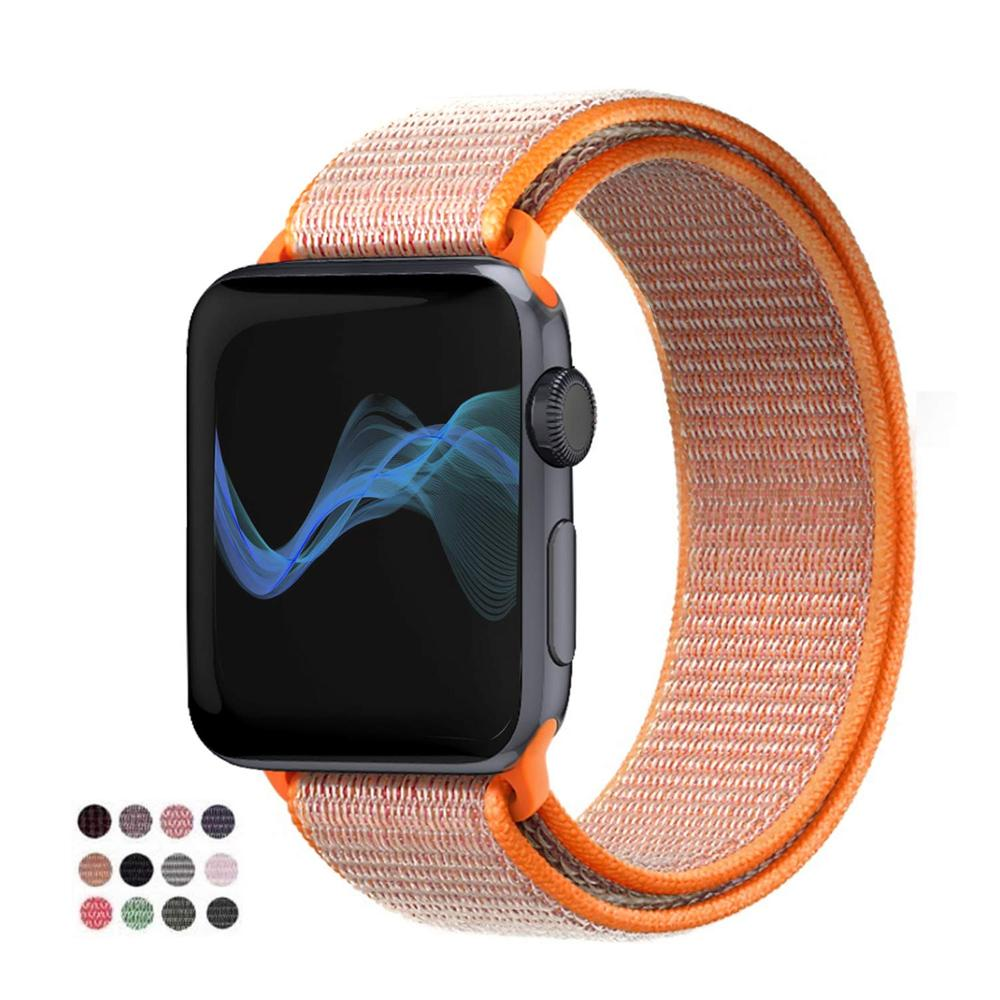 Nylon Band For Apple Watch 4 Series 3/2/1 38MM 42MM  Soft Breathable Replacement Strap Sport Loop For Iwatch Series 4 40MM 44MM