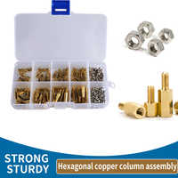 200Pcs/set M2.5/M3 Hex Nut Spacing Screw Hex Brass Threaded Pillar PCB Motherboard Standoff Spacer Kit Wood Bolt Screw Set