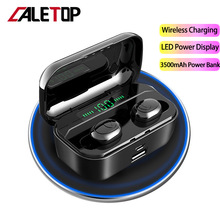 TWS Bluetooth 5.0 Earphone Led Power Display CVC Noise Reduction 3500mAh Charging Case Support Wireless Sport Headsets