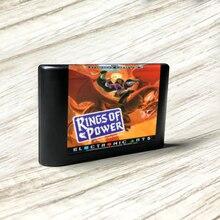 Anneaux de power eur étiquette Flashkit MD Electroless carte PCB or pour Console de jeu vidéo Sega Genesis Megadrive