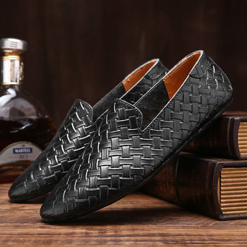 Black Men Loafers Shoes Luxury genuine leather Slip-on Moccasins Casual Men Shoes fashion loafers Men's Flats driving Shoes 2020 genuine leather slip on men loafers dress flats shoes big size 46 luxury brand loafers shoes fashion casual men shoes 8820
