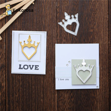 DiyArts Heart Crown Cutting Dies Metal Dies For Scrapbooking Photo Album Card Making Embossing Stencil Decor Diecut New 2020 161 horizontal double potentiometer b10k